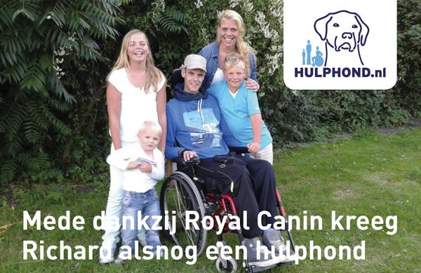 Mede dankzij Royal Canin Nederland kreeg Richard alsnog een hulphond